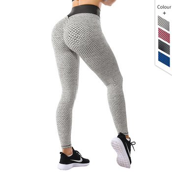 Women High Waist Leggings No See Through Thick Fitness Legging Butt Lift Seamless Legins Workout Gym Scrunch Booty Push Up Pants image