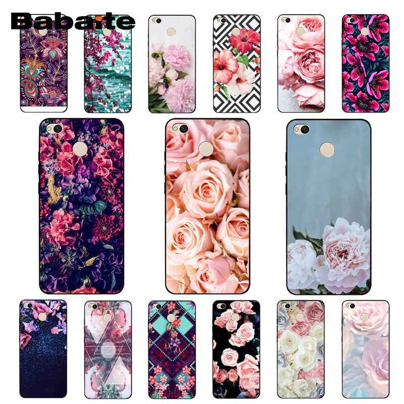 Babaite Nature and flowers Peony Rose Phone Case for Xiaomi Note3 mi5 6 A1 A2 Lite Mi9 9SE mi8lite 8explorer