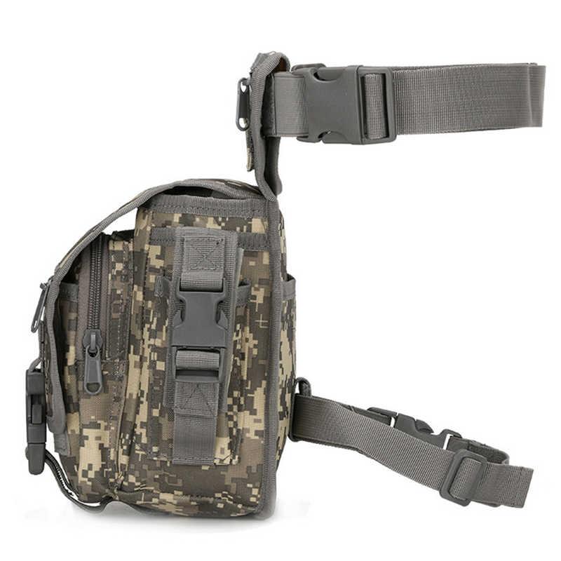 Bolsa pequeña táctica de engranaje militar bolsa Molle bolsa de pierna gota bolsa de camuflaje caza riñonera bolsa de pierna senderismo bolsa de ciclismo