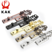 Kak 304 ステンレス鋼セキュリティドアチェーンロック盗難防止ドアチェーンドアラッチ爪送料のり厚みドアロックハードウェア