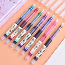 6/7 Pcs Large Capacity Gel Pen Set Rollerball Pens 0.5mm Quick-Drying Straight Liquid Pen for School Office Writing Stationery