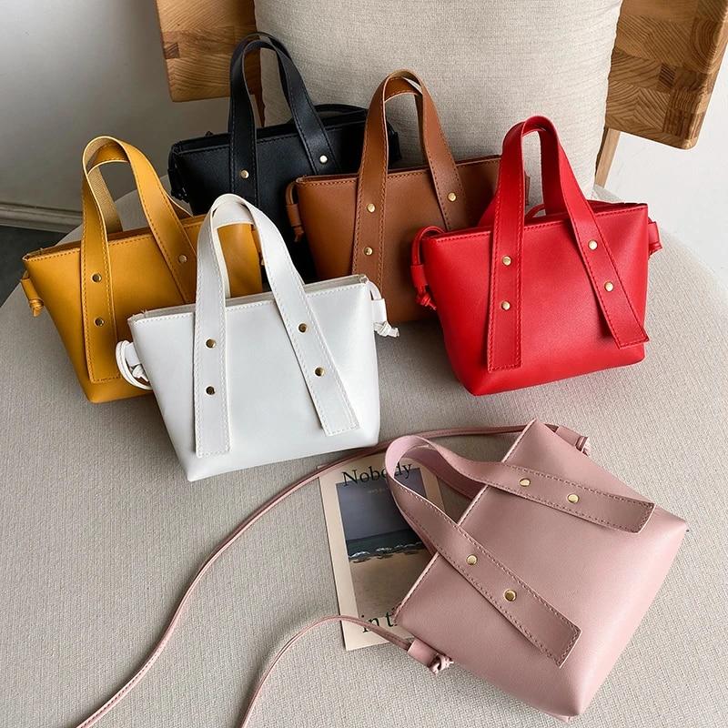 Women Simple Handbag Leather Tote Bag Crossbody Shoulder Messenger Bags Fashion