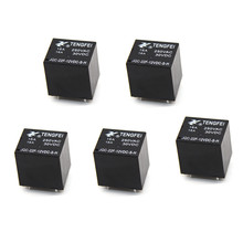 5 PIÈCES 22F Petite Normalement Ouvert Relais DC 12V 4 Broches 16A JQC-22F-12VDC-S-H(China)