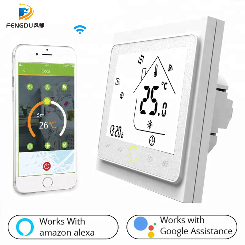 Smart WiFi Thermostat Temperature Controller Water Warm  Heating Works With Echo Google Home Tuya 3A
