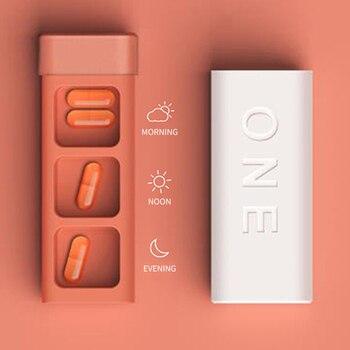 3 Grids Portable Pill Medicine Box Small Pill Travel Container Dispenser Organizer Case Vitamins Splitters Medicine Plastic Box portable 3 deck sealing plastic pill case box white jacinth