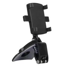 Samochód wielofunkcyjny uchwyt na telefon 360 stopni lusterko przeciwsłoneczne uchwyt do pulpitu GPS stojak z uchwytem na telefon