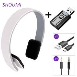 Спортивные наушники с шумоподавлением, беспроводная гарнитура с Bluetooth 5,0 и USB-адаптером для телевизора, HiFi наушники с глубокими басами для те...