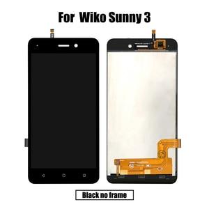 Image 2 - Novo original para wiko sunny 3 lcd & digitador da tela de toque com moldura display módulo acessórios montagem ferramentas substituição
