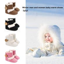 JOCESTYLE Winter Warm Newborn Baby Snow Boots Girls Boys Toddlers Infant Fleece Mid-Calf Shoes Dropshipping