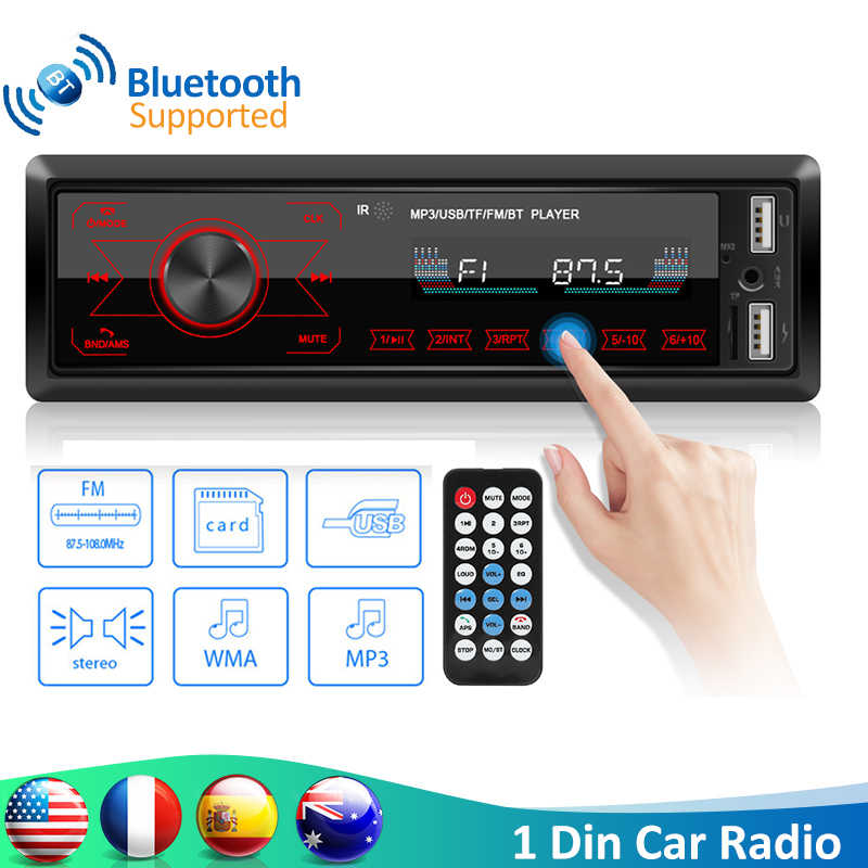 VODOOL M10 Auto Radio 1DIN In-Dash Bluetooth Autoradio Touch Schlüssel Fernbedienung Stereo Auto Audio Auto MP3 Player USB/TF/AUX-IN