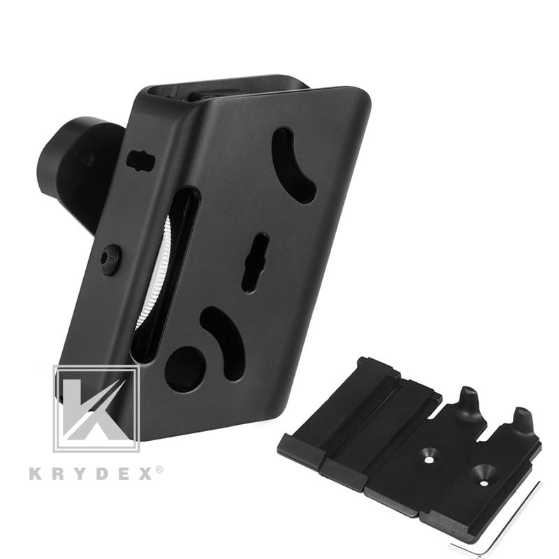 krydex ipsc compartimento bolsa coldre de aluminio mag uspsa competicao tiro multi angulo ajuste velocidade pistola