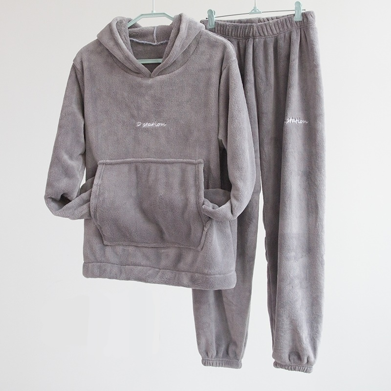 Autumn Hoodies And Long Pants Velvet 2 Two Piece Set Women Streetwear Loose Tracksuit Sweatsuit Warm Baggy Woman Clothes 2019