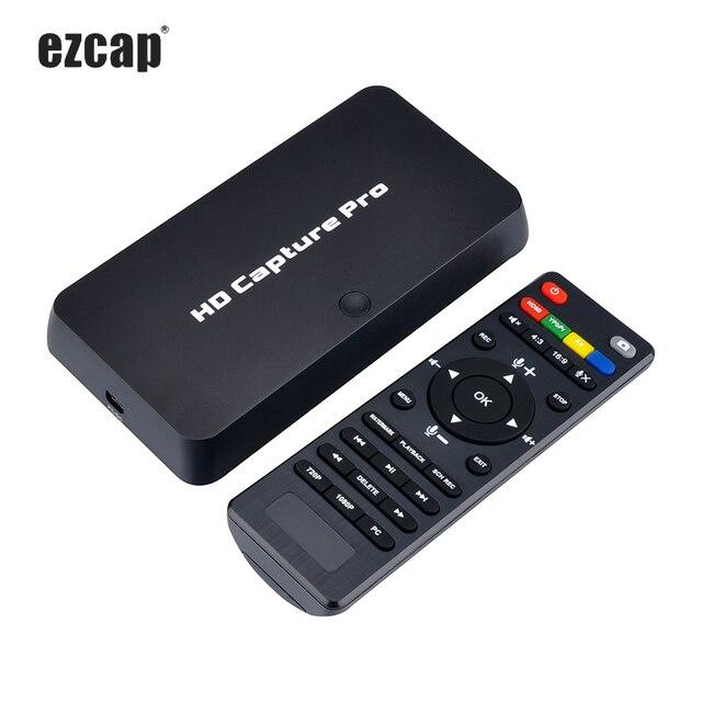 Ezcap 295 HD Video Capture 1080P Registratore USB 2.0 Riproduzione Ferramenteria E Attrezzi H.264 Schede di Acquisizione Codifica Per Xbox One PS4 w/ Remote
