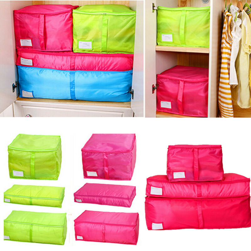 Waterproof Cloth Box Shape Storage Bag Zipper Large Capacity Packing Cube Travel Luggage Organizer Pouch