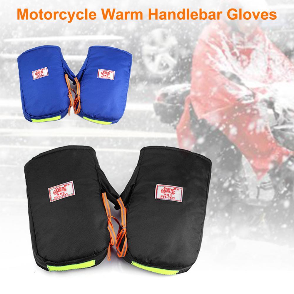 Motorcycle Hand Handlebar Gloves Winter Thicken Warmer Motorbike/Scooter Handlebar Grip Muffs Waterproof Windproof Gloves