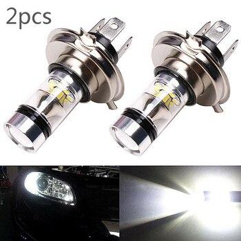 цена на 12/24V 2*Car H4 LED Headlight Bulbs Conversion Kit 8000K Super Bright High/Low Beam 20-LED Fog Light Driving  Bulb White Lamp
