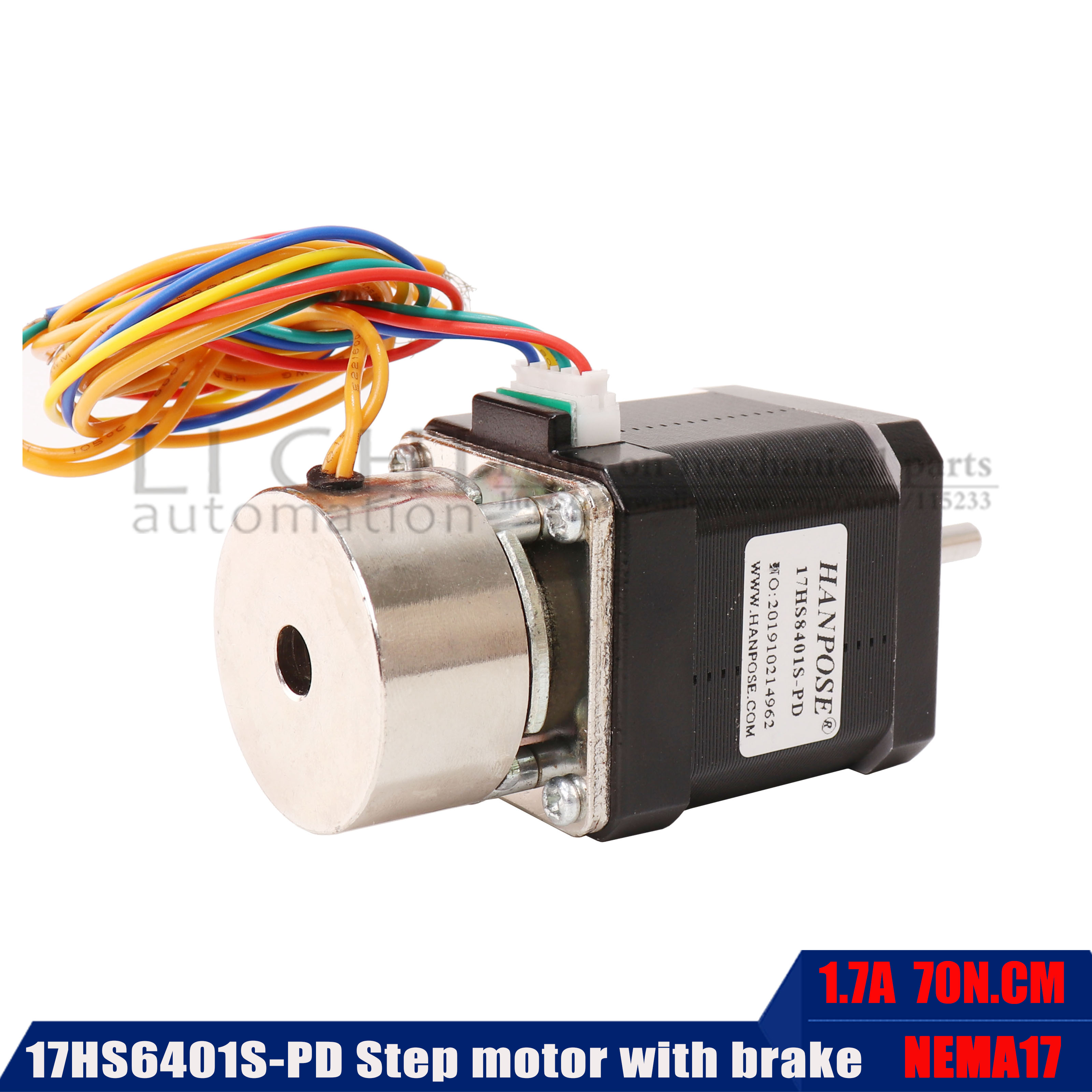 42 Stepper Motor 17hs6401 With Brake 70ncm Large Torque 42x60mm With Band Brake Motor Nema17 For 3D Printer