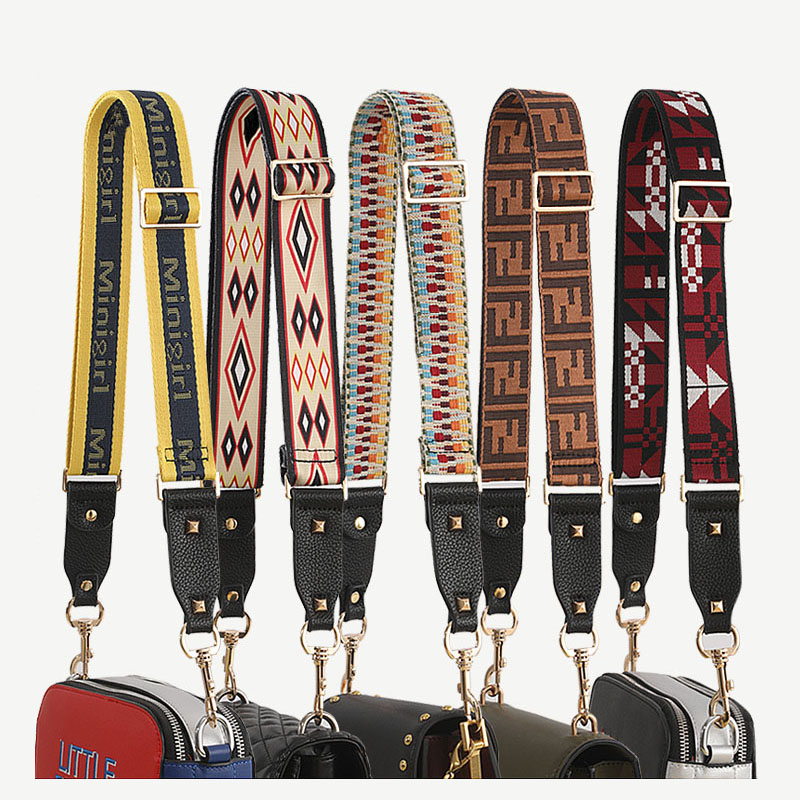 Nylon Colored Belt Crossbody Bags Strap Accessories Women Adjustable Shoulder Hanger Handbag Straps For Bags Pasek Do Torebki