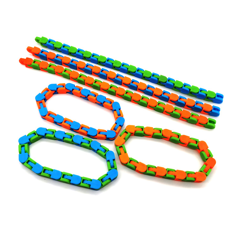 Toy Chain Bracelet Fidget Spinner Bike Anti-Stress Adult Children for Kids Snake Puzzle img3