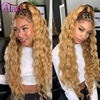 Hd Transparent Lace Wig Highlight Wig Honey Blonde Ombre Wig Loose Deep Wave Lace Frontal Wig Brazilian Virgin Human Hair Wigs