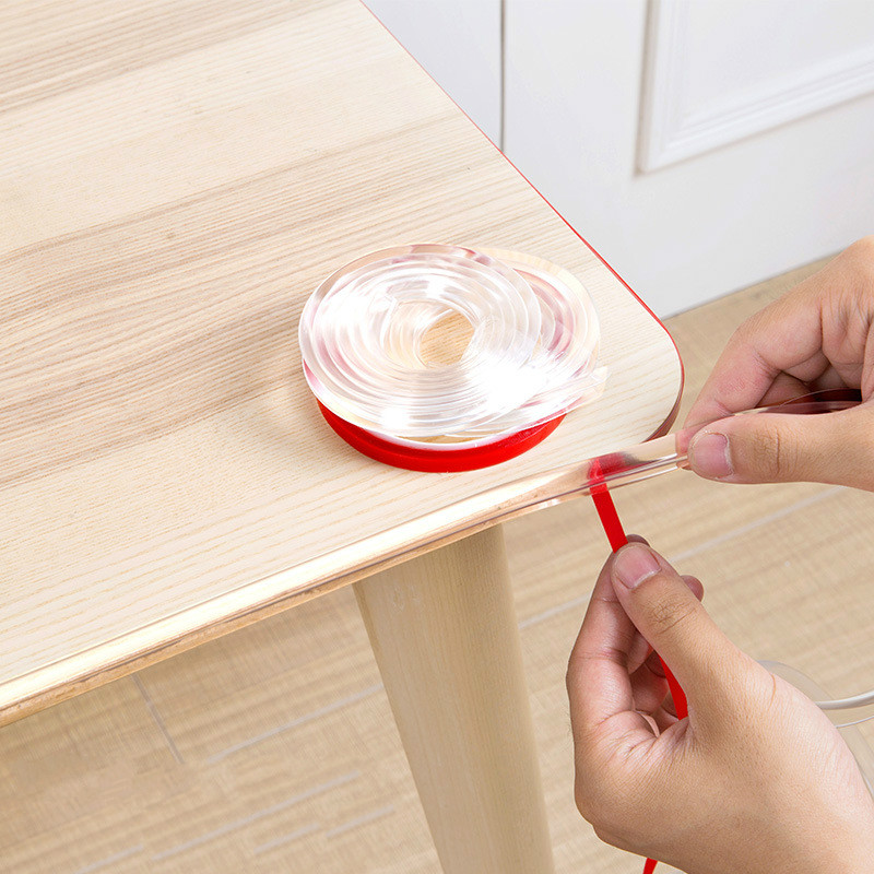 1M Baby Safety Table Corner Guards PVC Transparent Edge Corner Protection Strip Baby Collision Proof Edge Guards Soft Bumper