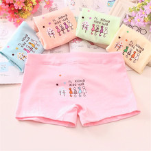 5PCS/Lot 2-12Years Children Cotton Soft Underwear Panties Puberty Girl Cute Cartoon Teenage Briefs Comfortable