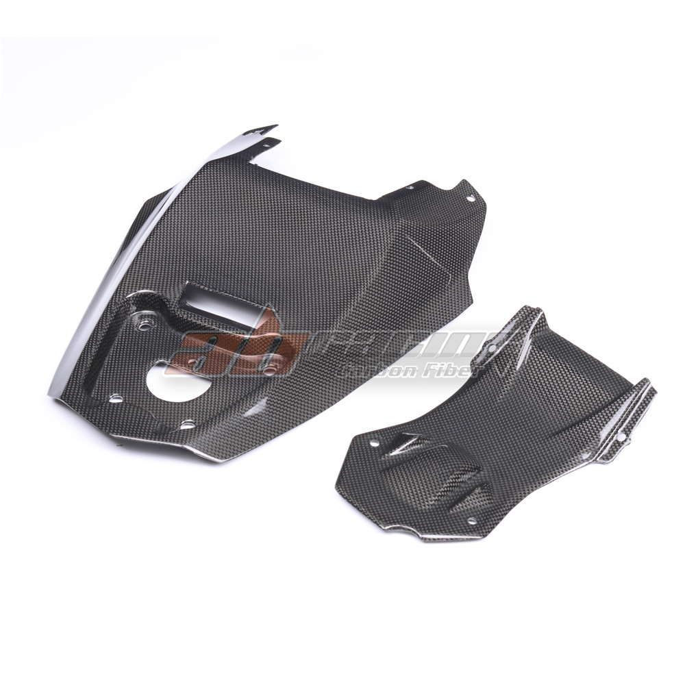 Undertray Rear Bottom Tail License Mount Tray For Ducati Streetfighter S 848 Full Carbon Fiber 100%  Protection