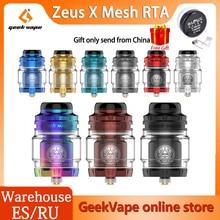 Geekvape Zeus X RTA Mesh Version 25mm 4.5ml/3.5ml Tank Capacity with 810 Drip Tip Electronic Cigarette Atomizer VS Zeus Dual