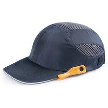 Рабочий защитный шлем светильник конструкция веса Дышащие анти-ударные шлемы защита головы Bump cap для рабочего