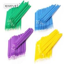 100 Stuks Wegwerp Make Up Wimpers Mini Individuele Wimpers Applicators Mascara Brush Lash Extensions Wattenstaafje Groothandel Prijs