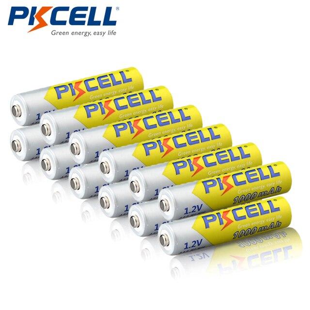 12 ピース/ロット PKCELL ニッケル水素電池 AAA 1000mAh 1.2V ニッケル水素充電式バッテリー 3A 電池 Baterias カメラ懐中電灯用のおもちゃ