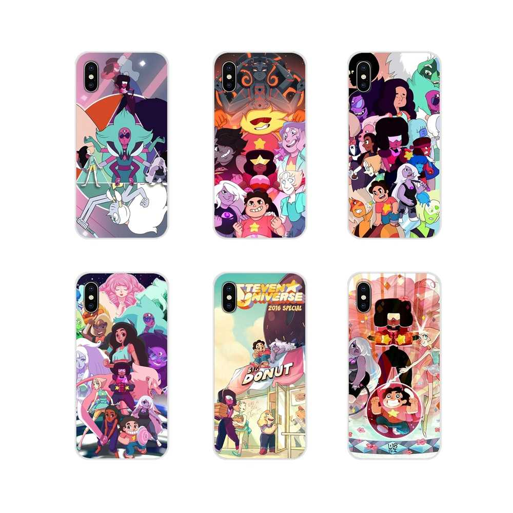 Für Apple iPhone X XR XS 11Pro MAX 4S 5S 5C SE 6S 7 8 Plus ipod touch 5 6 Cartoon Steven Universe Zubehör Phone Cases Covers