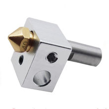 High Quality MK10 Extruder Kit M7 Nozzle Aluminum Heating Block PTFE Throat for 3D Printer(China)