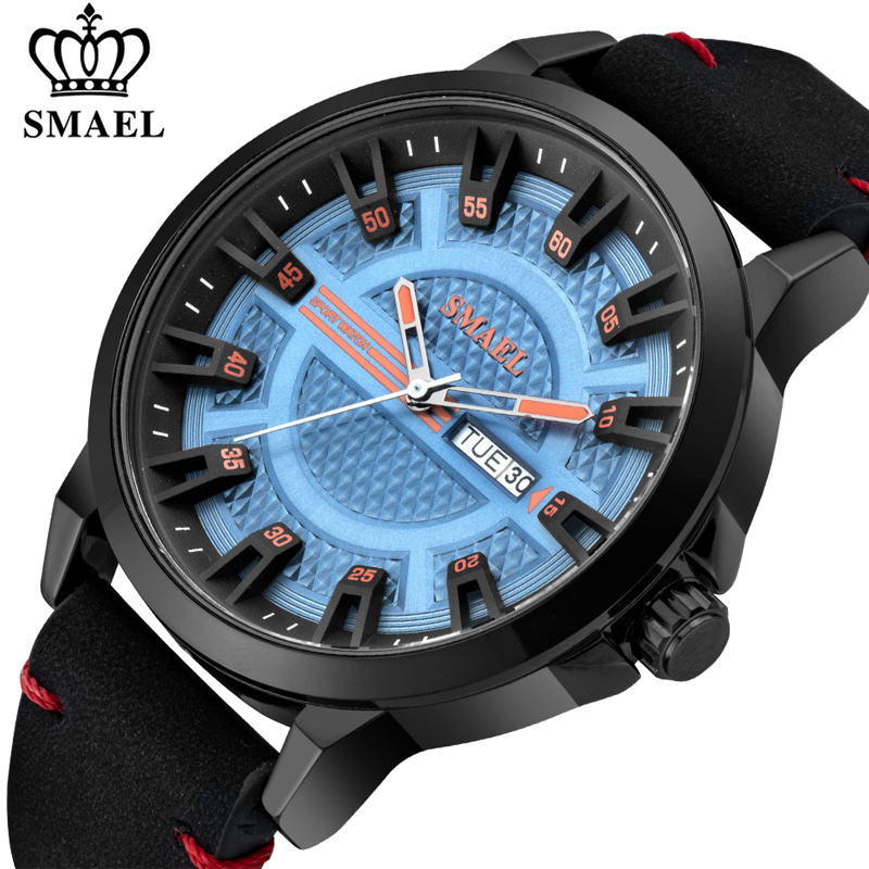New SMAEL Watches Men 2020 Luxury Brand Quartz Wristwatch Male Clock Waterproof Date Army Military Sport Watch Relogio Masculino