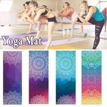 Classic Mandola Yoga Towel Diamond Texture Non Slip Portable Travel Yoga Mat Towel Mat Cover Pilates