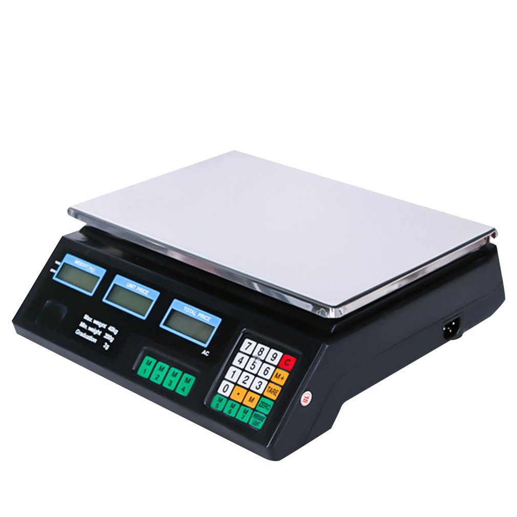 English Version Electronic Pricing Scale Electronic Platform Scales Electronic Scale Fruit And Vegetable Kitchen Scales 40Kg