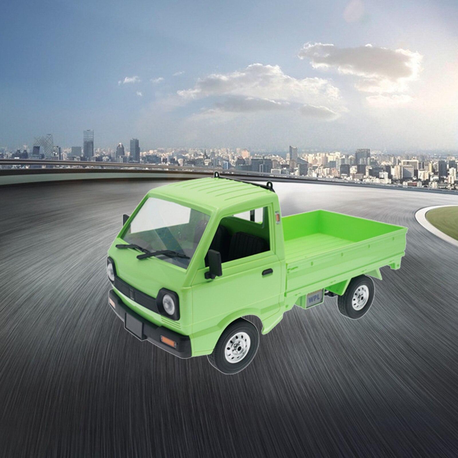 Caminhões rc wpl d12 1/10 rc carro simulação deriva caminhão 260 motor rc brinquedo do carro de controle remoto brinquedos presente aniversário para crianças meninos