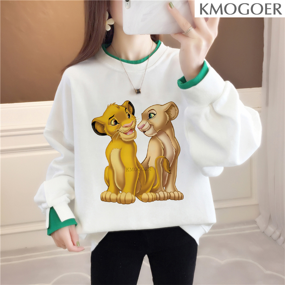 Simba Lion King Vintage Graphic Swearshirt Women Fashion Graphics Tumblr Swearshirt Grunge Tops Women Pullover Drop Shipping