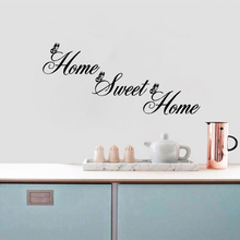 DIY English Stickers Home Sweet Decor Wall Stickers DIY Removable Art Vinyl Wall Sticker Adhesivos De Pared Decoracion De Hogar