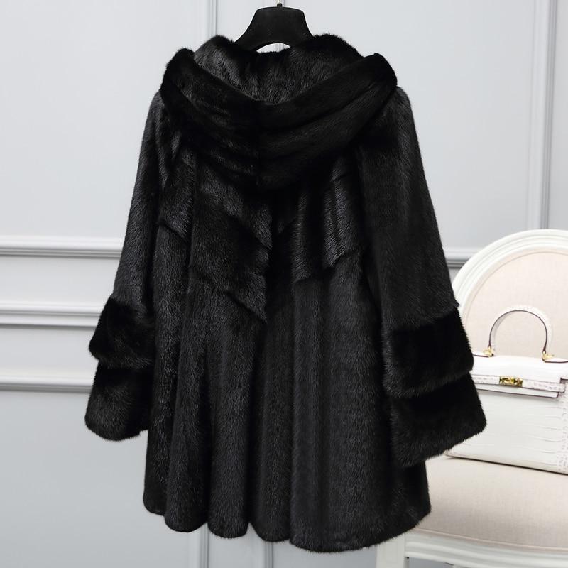 Real 2020 Mink Fur Coat Winter Jacket Women Luxury Natural Full Pelt Fur Jackets For Women Korean Long Jacket MY3972 S