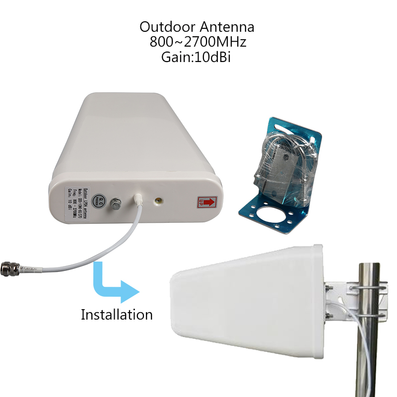 lintratek Repeater 2g 3g 4g Signal Booster GSM Tri Band 900 DCS 1800 WCDMA 2100 cell phone Cellular Signal Booster Amplifier