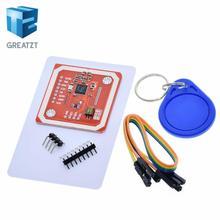 1 комплект GREATZT PN532 NFC RFID беспроводной модуль V3 пользовательские комплекты писатель режим IC S50 карты PCB аттенна IEC IIC SPI HSU для Arduino
