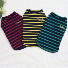 Summer Pet Dog Clothes for Small T-shirts Puppy Sport Soccer Jersey Cat Striped Vest Outfit Spring Coats Vests Z