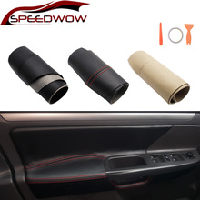 SPEEDWOW Car Door Handle Panel Armrest Microfiber Leather Cover For Volkswagen Jetta MK5 Golf 5 LHD 2005-2010 4 Pcs