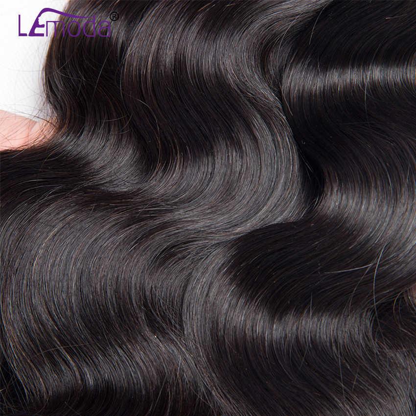 40 zoll Lemoda Brasilianische Körper Welle Menschliche Haarwebart Bundles Natürliche Schwarze Remy Haar Extensions 3 Bundles