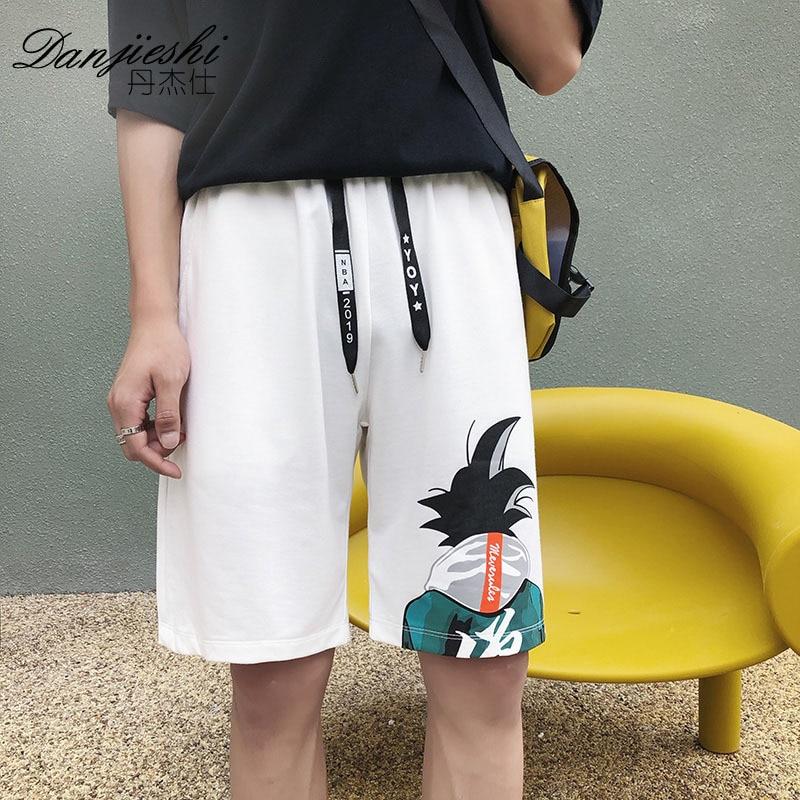 Summer Shorts Men's Cartoon Printed Korean-style Trend Men'S Wear Sports Casual Shorts Fashion-Beach Shorts Large Trunks