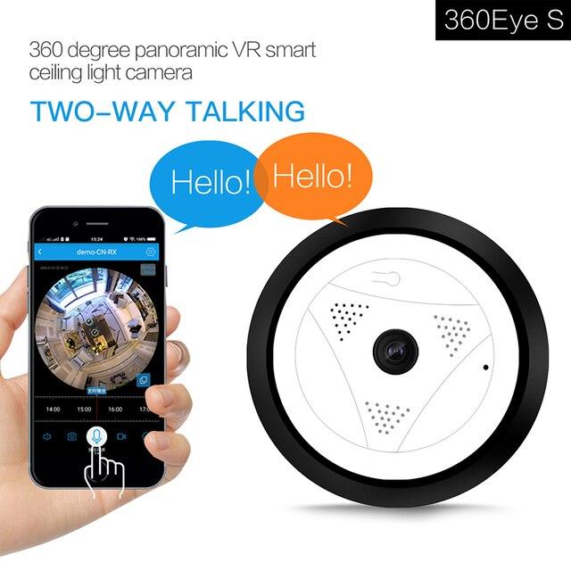 Pleine vue 360 Wifi caméra de Surveillance panoramique bidirectionnelle Audio 960P Fisheye sans fil intelligent IP caméra sécurité à domicile Wifi caméra