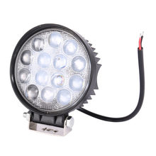 Waterproof 42W LED Working Light 6500K Round Shape Car Auto Headlight with 14pcs*3W LEDs for 12V Vehicles(China)