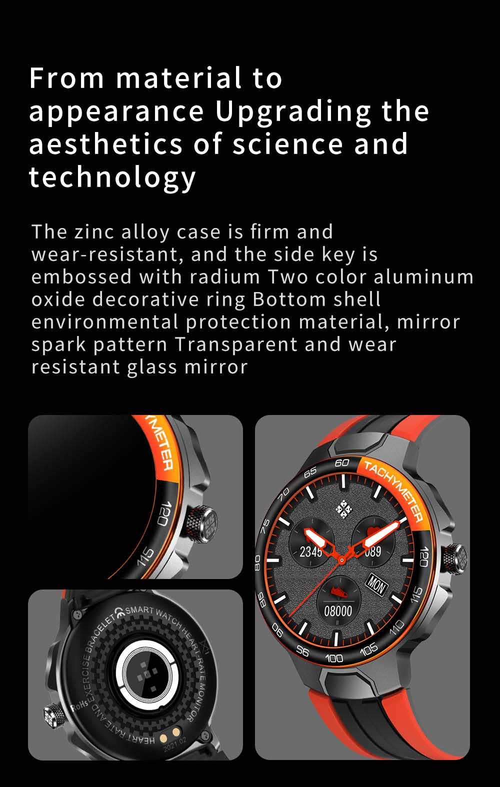 Ha20b14945882473a890fc72bfbc3afb6e Smart Watch Men Women IP68 Waterproof Bluetooth 5.0 24 Exercise Modes Smartwatch E1-5 Heart Rate Monitoring for Android Iosr A