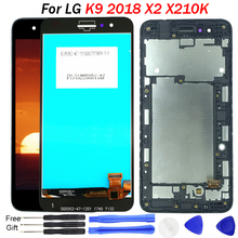 For LG K9 2018 Lcd X2 X210K X210HM Display With frame tools Touch Screen Digitizer Assembly 5.0inch X2 X210K X210HM Display все цены